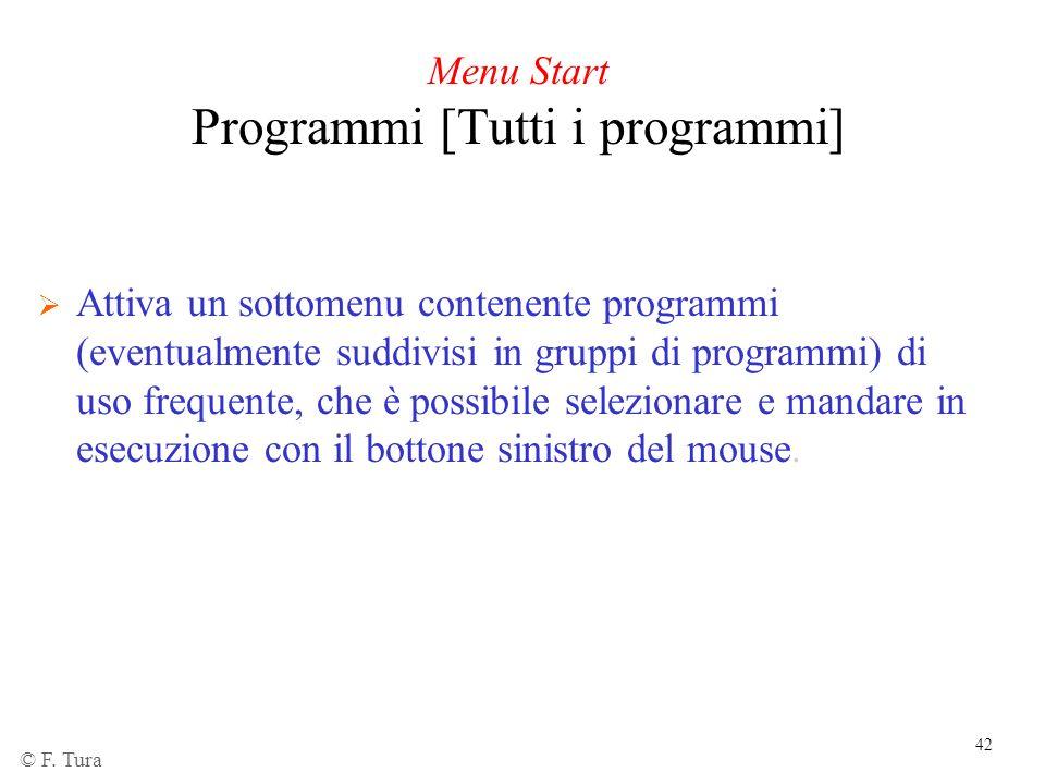 Menu Start Programmi [Tutti i programmi]